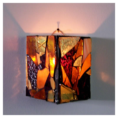 Mosaic Glass Candle Wall Sconces : Wall Candle Sconcesbrian Stricklandglass Mosaic Gallery - acrylic lamps