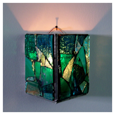 Mosaic Glass Candle Wall Sconces : Wall Candle Sconces - Brian Strickland s Glass Mosaic Gallery - in Traverse City.